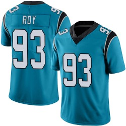 Men's Bravvion Roy Carolina Panthers No.93 Limited Alternate Vapor Untouchable Jersey - Blue