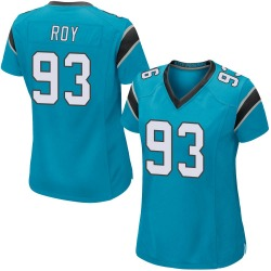 Women's Bravvion Roy Carolina Panthers No.93 Game Alternate Jersey - Blue