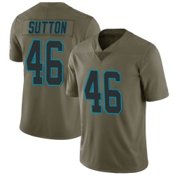 Youth Cam Sutton Carolina Panthers No.46 Limited 2017 Salute to Service Jersey - Green