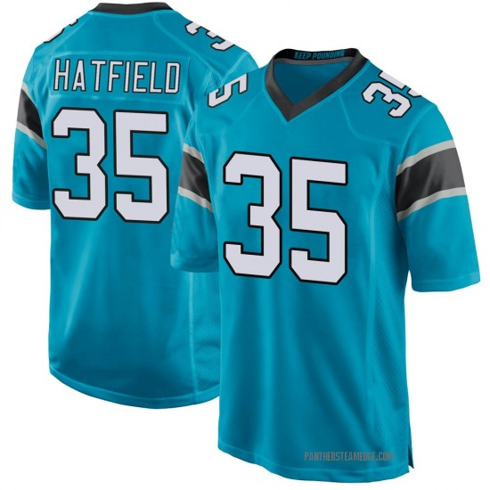 Youth Dominique Hatfield Carolina Panthers No.35 Game Alternate Jersey - Blue